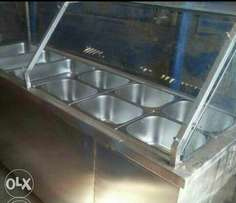 Stainless warmer 9 partition