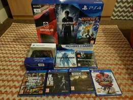 Brand new PS4 1TB + 6 games + 1 year warranty