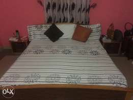 Bed frame/side drawers/mattress. Purchase as a set or individually