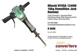 Hitachi H70SA 1240W 16kg Demolition Jack Hammer