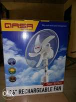 Qasa QLINK 16inchs Rechargeable fan with solar suport