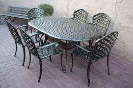 6 Seater cast auminium Patio set
