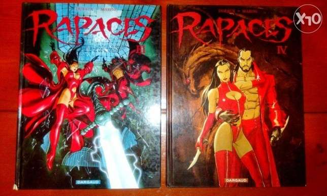 Rapaces 4 volumes rated R french comics