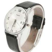 Siqin leather strap watch