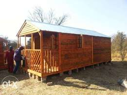 Log cabin 3x6 including varanda price R8000