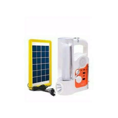 Lontor Solar Rechargeable Led Lamp With Radio & USB + Solar Panel Lagos - image 1