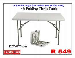 1.2m Plastic folding tables at factory low prices