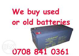 Dealers of old solar Batteries Wuse Abuja
