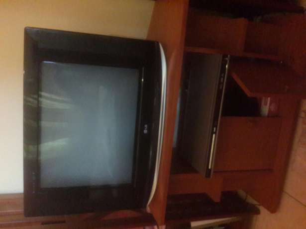 "COMBO PACKAGE PRICED TO SELL. 21""LG TV, DVD and Cabinet with Storage Langata - image 1"