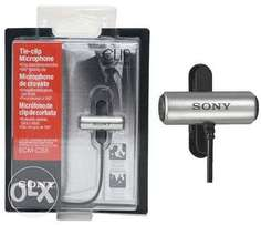 Sony ECMCS3 Clip style Omnidirectional Stereo Microphone