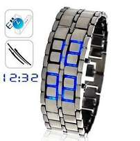 LED Metal Faceless Watch