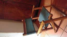 Vintage fold up camp chair for kids