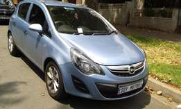 2015 model Opel Corsa 1.4 blue co-lour with KM37000 for sale