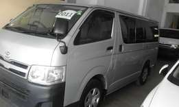 Toyota hiace 2009 diesel auto deposit 1.3 for 14 months