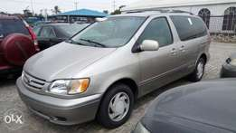 Foreign Used 2003 Toyota Sienna LE With Auto Fabric Cold AC 3rd row