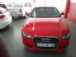 2013 Audi A4 2.0 TDI, Color Red, Price R180,000.