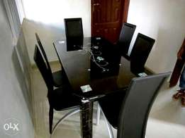 New 6-Seater Glass Dining Table
