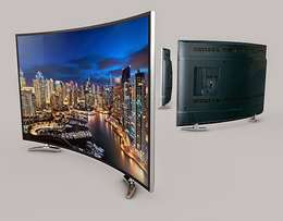 neat clean curved body of the Nasco 32 curved satellite led tv