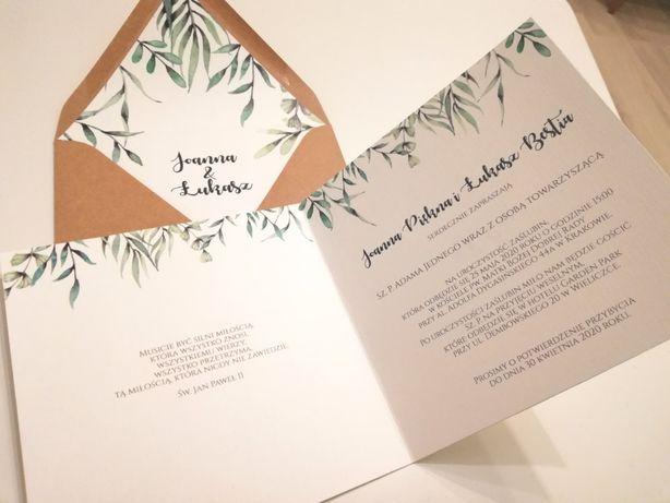 Wszystkie nowe Zaproszenie na ślub, rocznicę ślubu składane personalizacja SZYBKO WI36