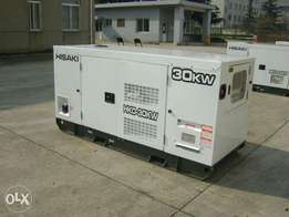 30KW SUPER SILENT Diesel STANDBY Generators for sale and installation