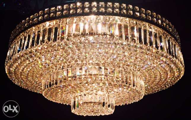 CEILING LIGHT 100/42/26 bronze & crystal