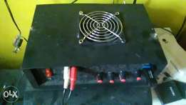 home made MOSFET power amplifier system