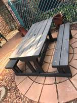 Wooden garden 6 seater bench for sale
