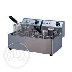 China electrical fryer single well and double well