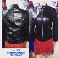 Pure black leather jacket