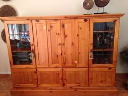 Solid Oregan Pine tv unit