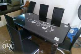Curved Edge Six Seater Dining Table