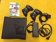In BOX,only 3 months old Matt Black Xbox 360 with 2 controllers & Game