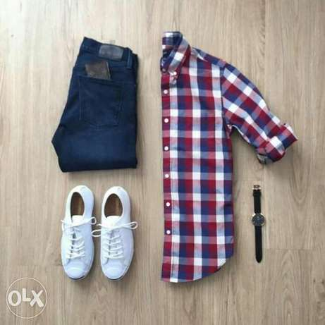 High Quality Khaki and Plaid Check Shirts Nairobi CBD - image 8