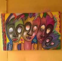 wall-art Painting on cotton