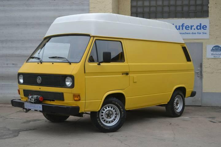 Volkswagen T3 Hochdach 1,9TDI SEILWINDE Camper EZ 1988 POST - 1988