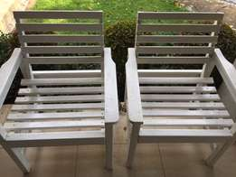 2 x Single Wooden Chairs 4 Sale