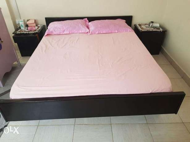 5×6 bed,mattress and bedside drawers Embakasi - image 1