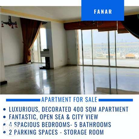 Luxurious 400 sqm Apartment for Sale in Fanar, Open Sea View, BC Acc.