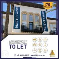 Now leasing service, commercial, very sophisticated finishing