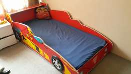Mokki car bed for sale with mokki mattress in excellent condition