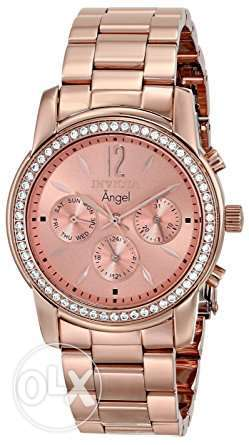 Invicta Women's 11774 Angel Rose Tone Dial 18k Rose Gold Ion-Plated St