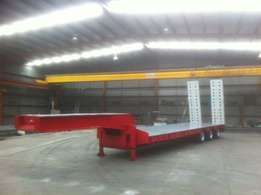 Low Loader Tri Axle Plant Trailer