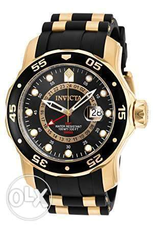 Invicta Men's 6991 Pro Diver Collection GMT 18k Gold-Plated Stainless