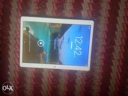 Clean white android tablet