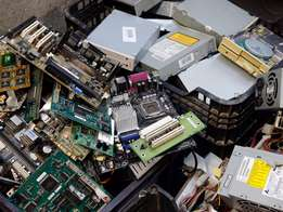 We buy E-waste in Brakpan, Benoni, Springs Area