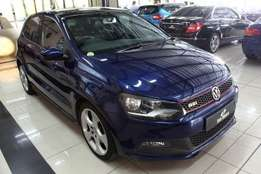 Blue 2012 Volkswagen Polo GTi 1.4 tsi DSG Automatic 5 Door
