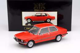 BMW 318i E21 Year 1975 red metallic model car 1;18 by KK-Scale - NEW