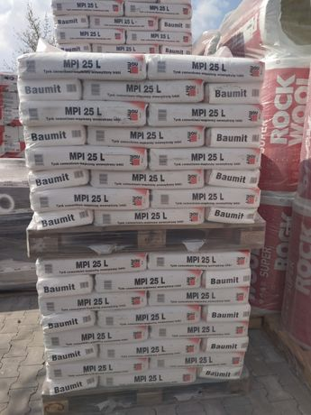 Baumit Mpi 25 L 25kg Tynk Cementowo Wapienny Wewnetrzny Lekki