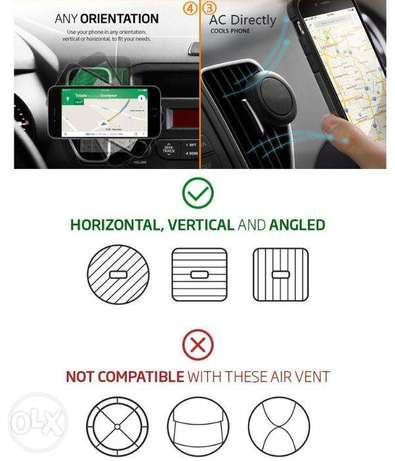 360 Degree Universal Car Holder Magnetic Air Vent Mount for Smartphone Nairobi West - image 6