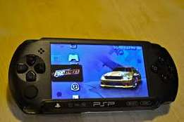 PSP game consoles with 8gb memory and 10games